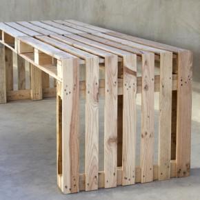 lav et simpelt havebord af 4 paller